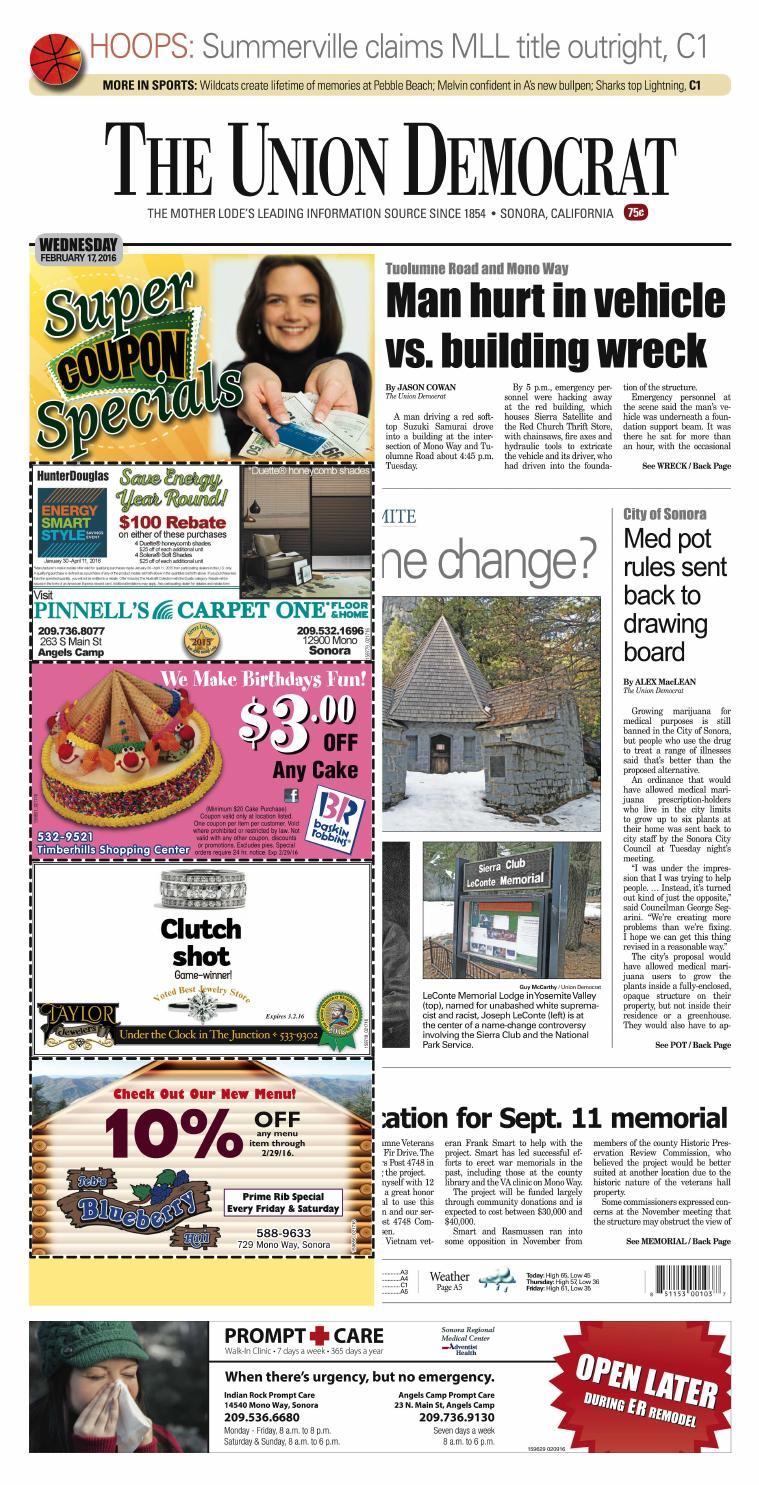 The Union Democrat 02-17-16 by Union Democrat - issuu on