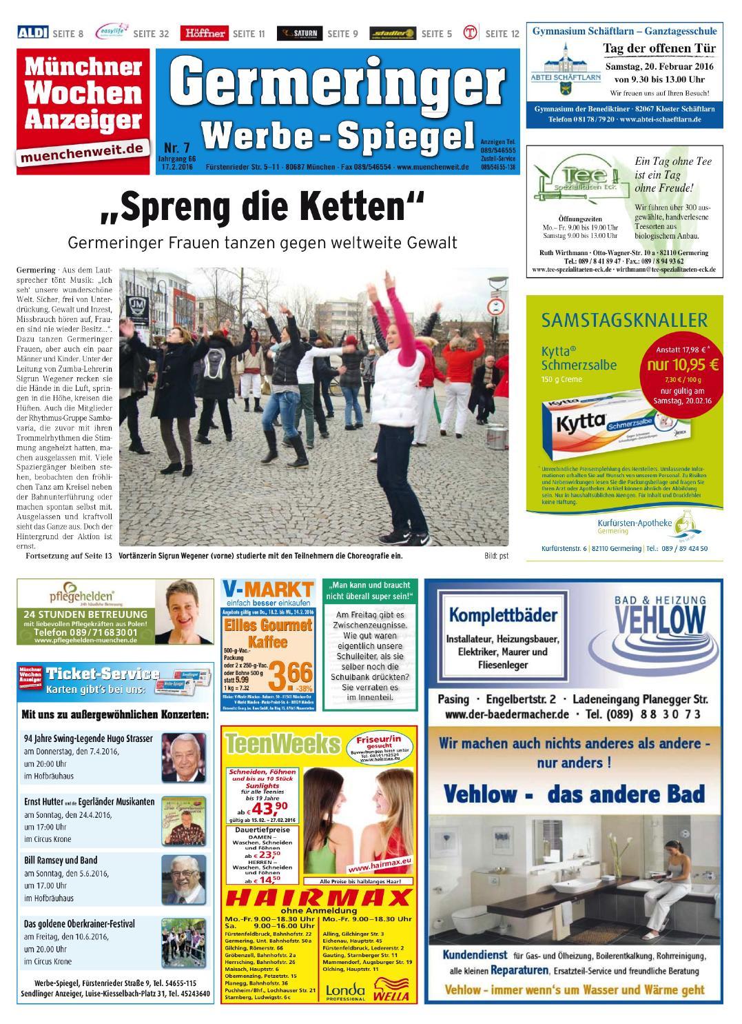 Kw 07 2016 by wochenanzeiger medien gmbh issuu for Spiegel epaper