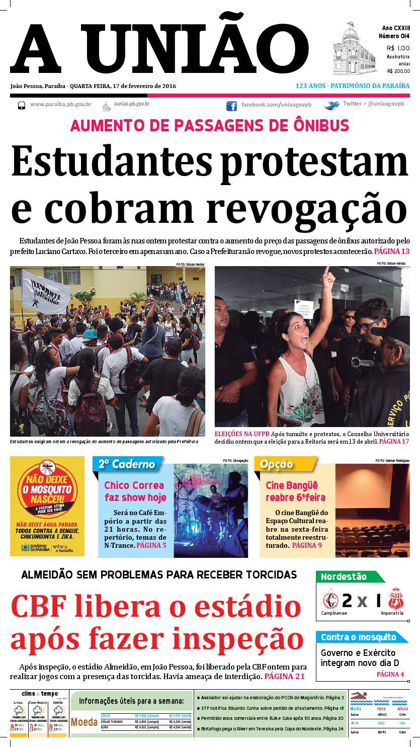 0d81b90268 Jornal A União 17 02 16 by Jornal A União - issuu
