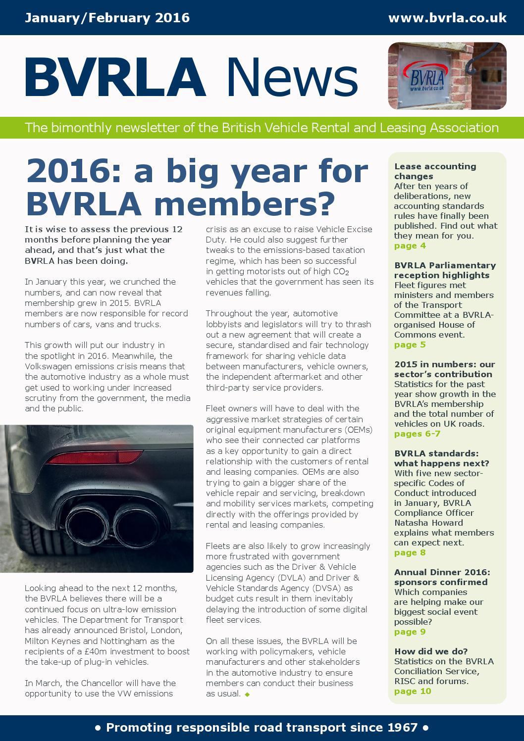 BVRLA News, January/February 2016 by BVRLA - issuu