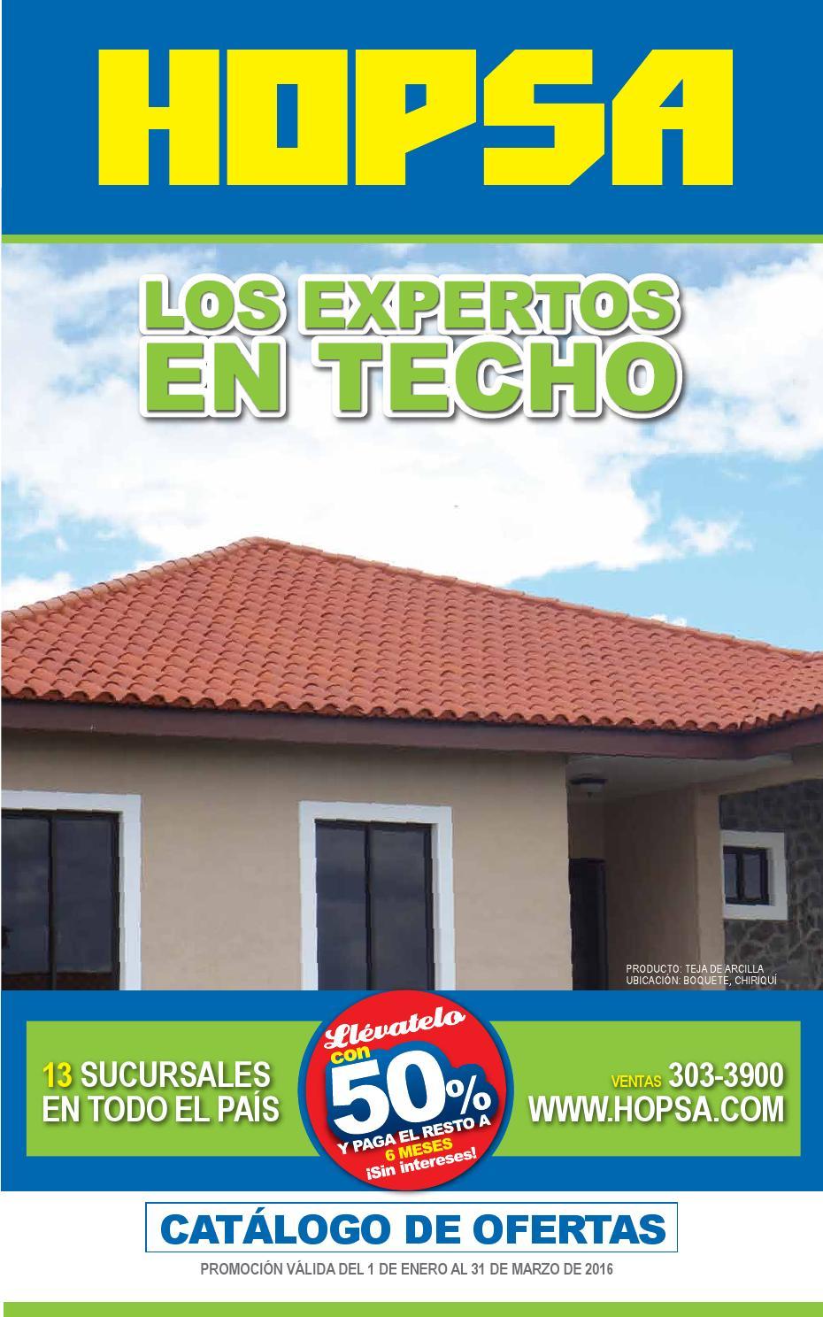 Catalogo de ofertas hopsa panama by interiores estilo for Ventanas de aluminio ofertas precio