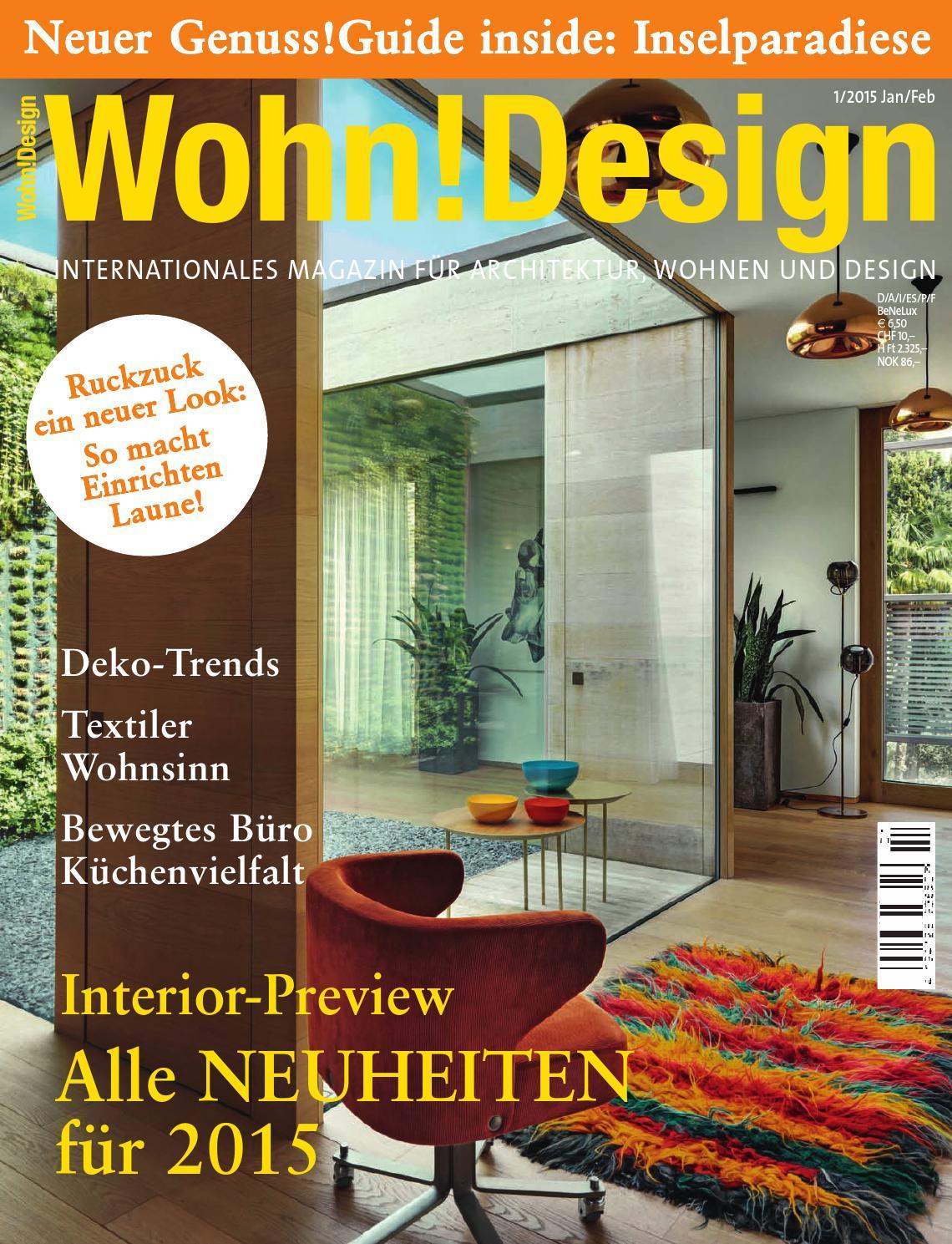 Wohn!Design 1/2015 by Wohn!Design - issuu