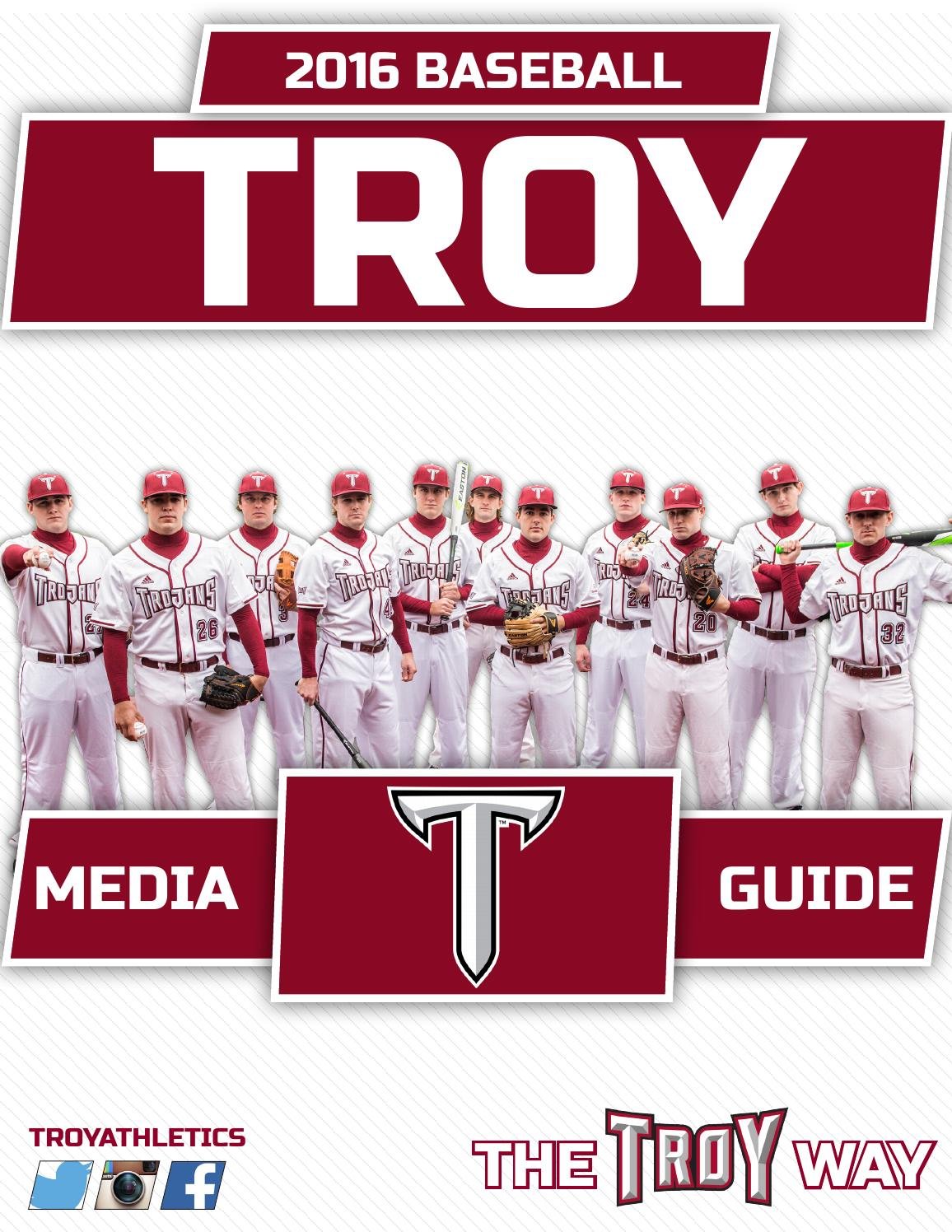 27e18485 2016 Troy Baseball Media Guide by Troy University Athletics - issuu