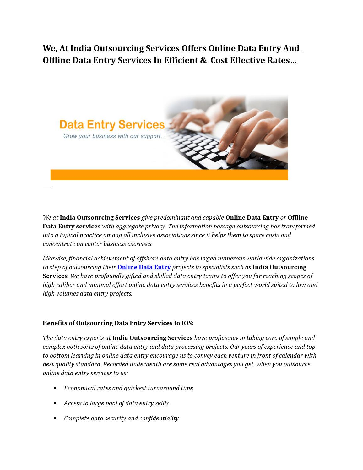 Data Processing Outsourcing Services by geetaios02 - issuu
