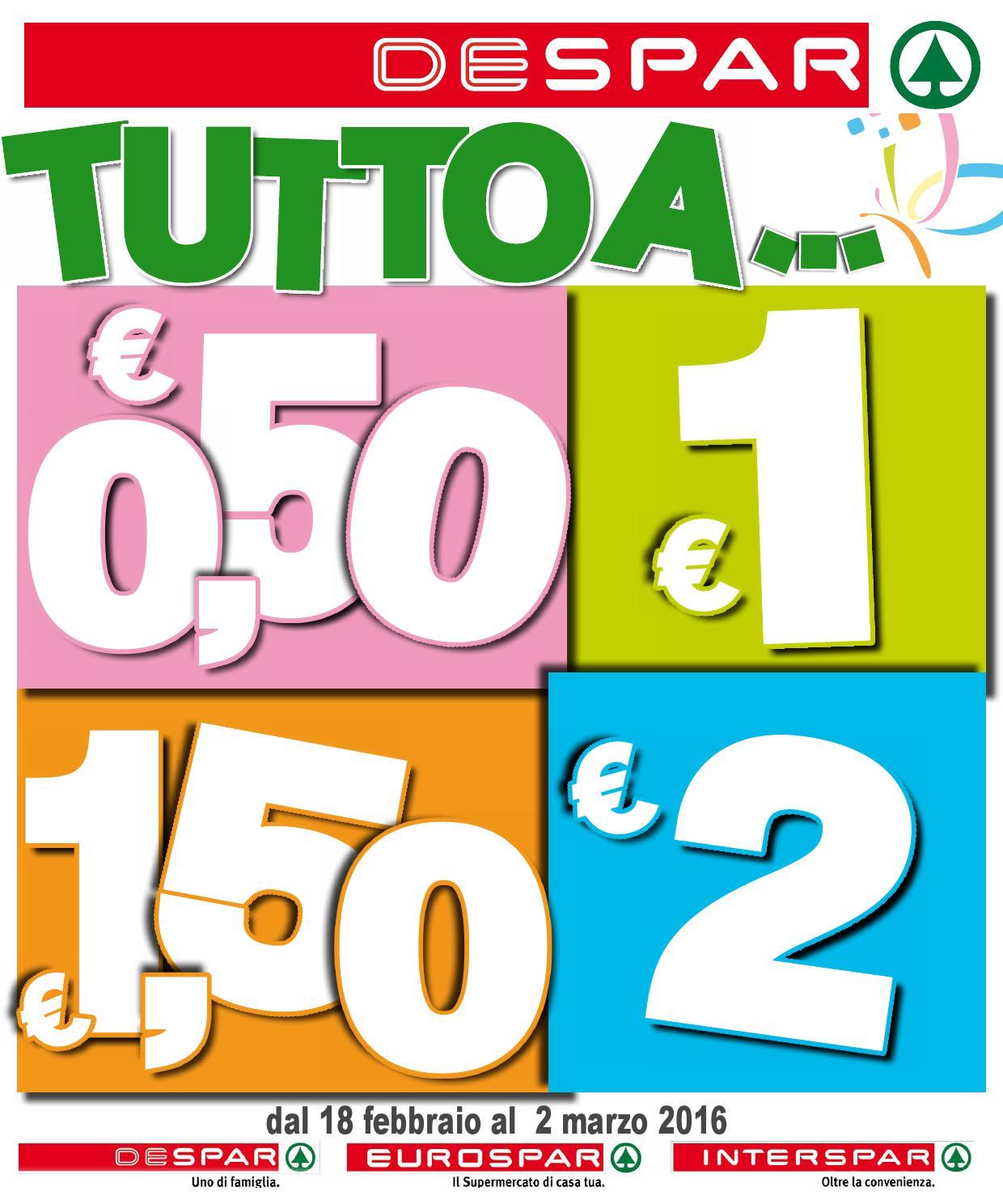 Volantino despar eurospar interspa dal 18 febbraio al 2 for Volantino despar messina