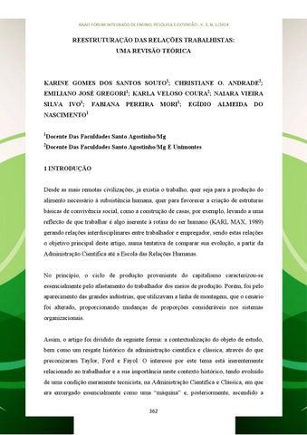 04d3888d3024 Anais forum v3 2014 parte 2 by Faculdades Santo Agostinho - issuu