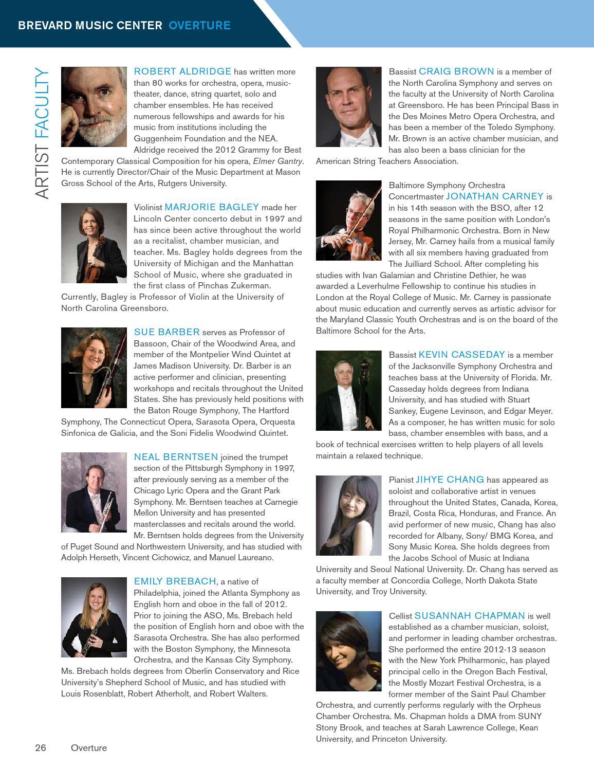 2015 Brevard Music Center Overture Magazine by Brevard Music Center