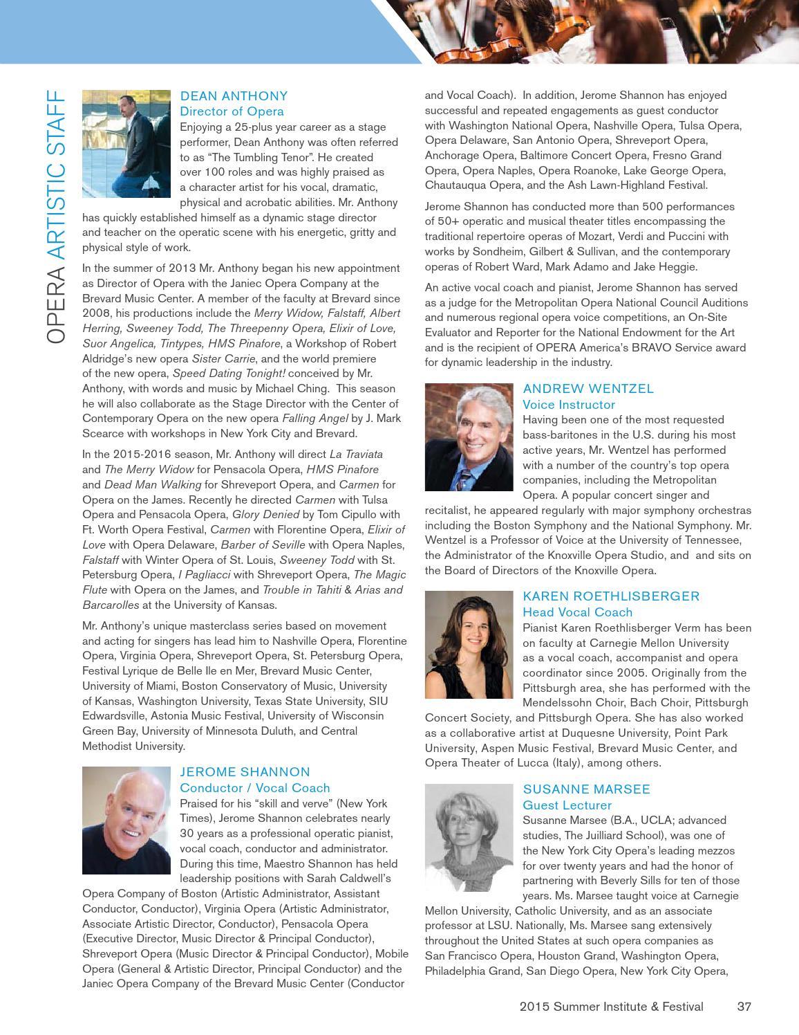 2015 Brevard Music Center Overture Magazine by Brevard Music
