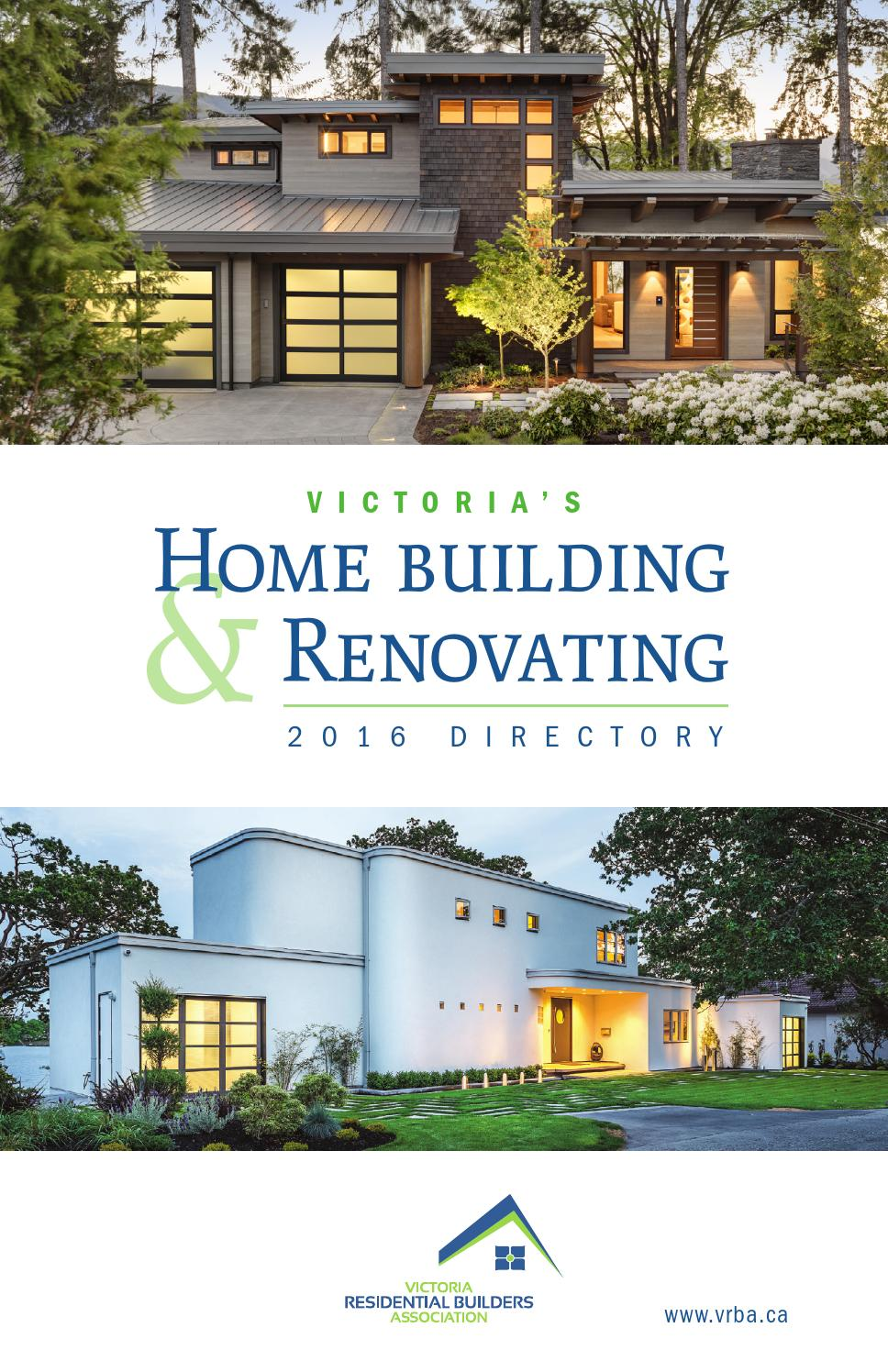 Victoria S Home Building Amp Renovating 2016 Directory By