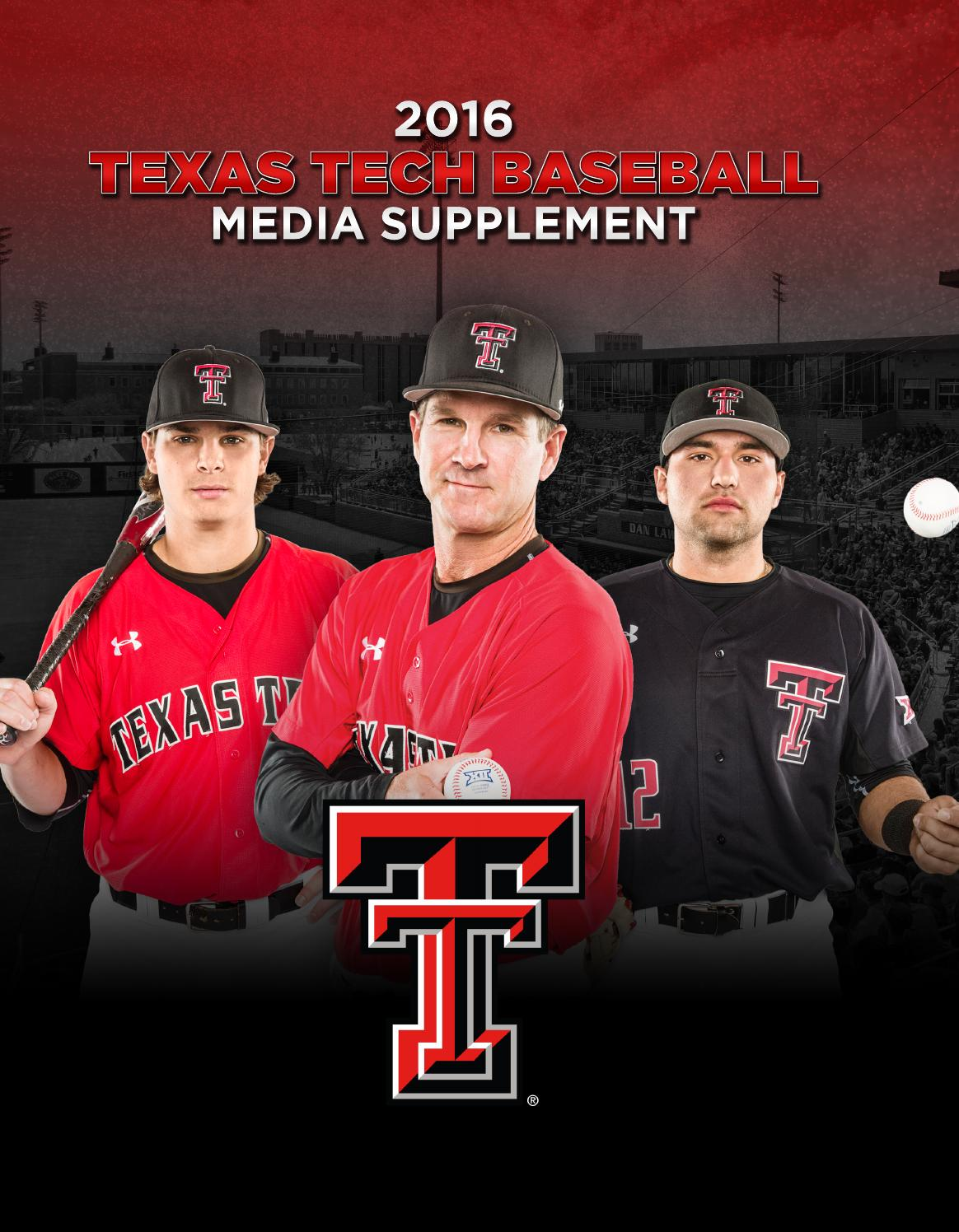 really comfortable brand new newest 2016 Texas Tech Baseball Media Supplement by Texas Tech Athletics ...