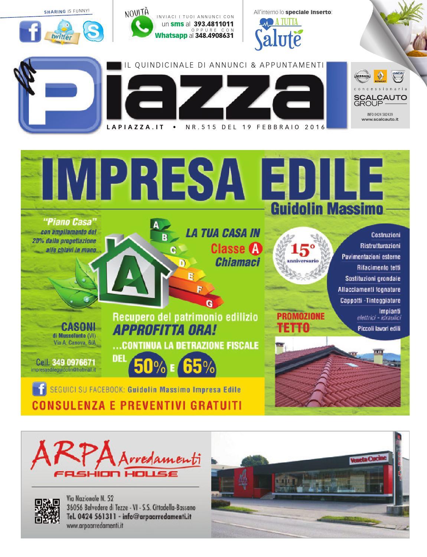 laPiazza515 by la Piazza di Cavazzin Daniele - issuu 97455257b0c3