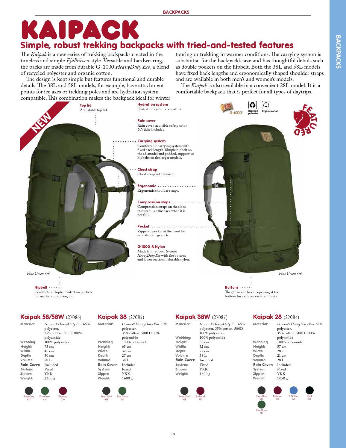 Fjällräven Kaipak 58 Rucksack pine-green