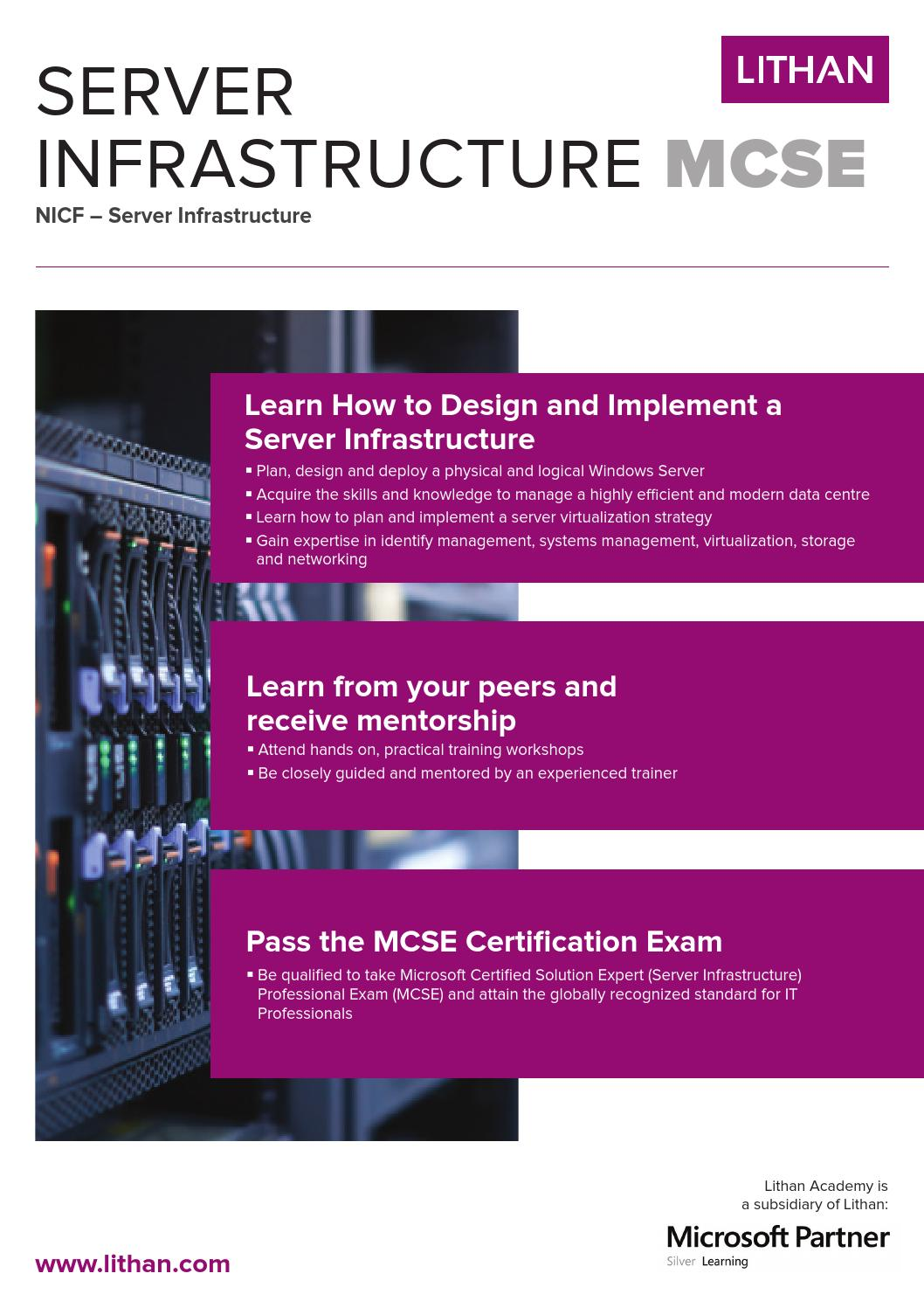 Server Infrastructure Mcse Brochure Sg By Lithan Hall Issuu