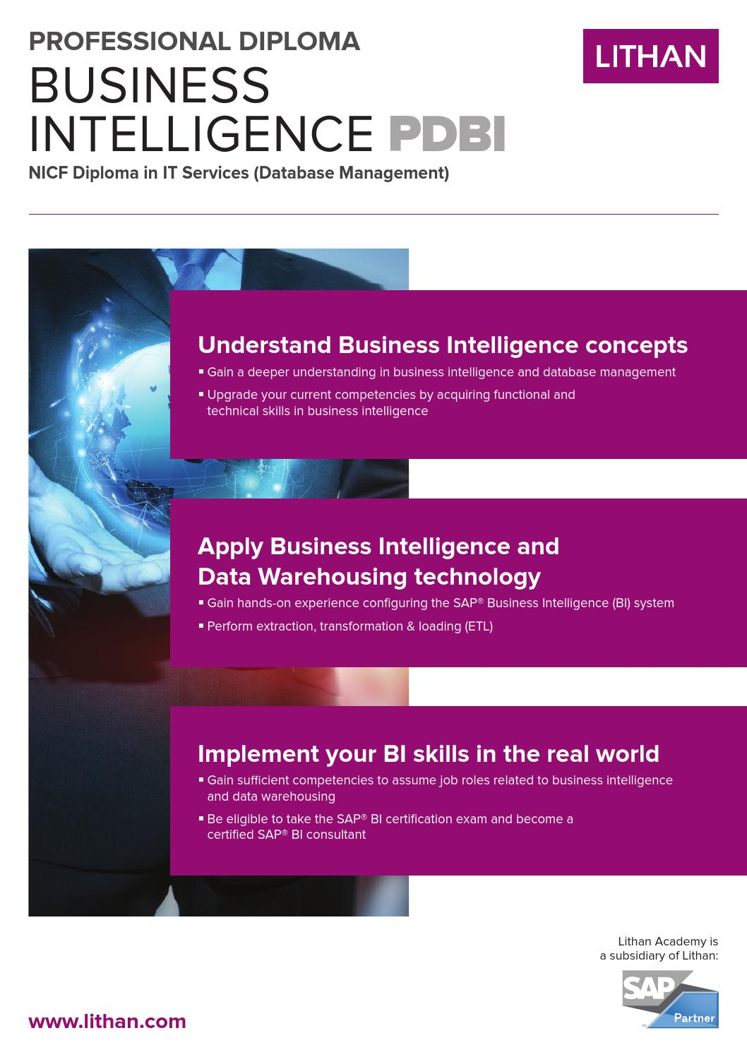 Professional Diploma In Business Intelligence Sg By Lithan Hall Issuu