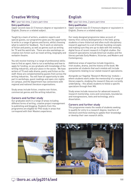 Loughborough University Postgraduate Prospectus 2016 by