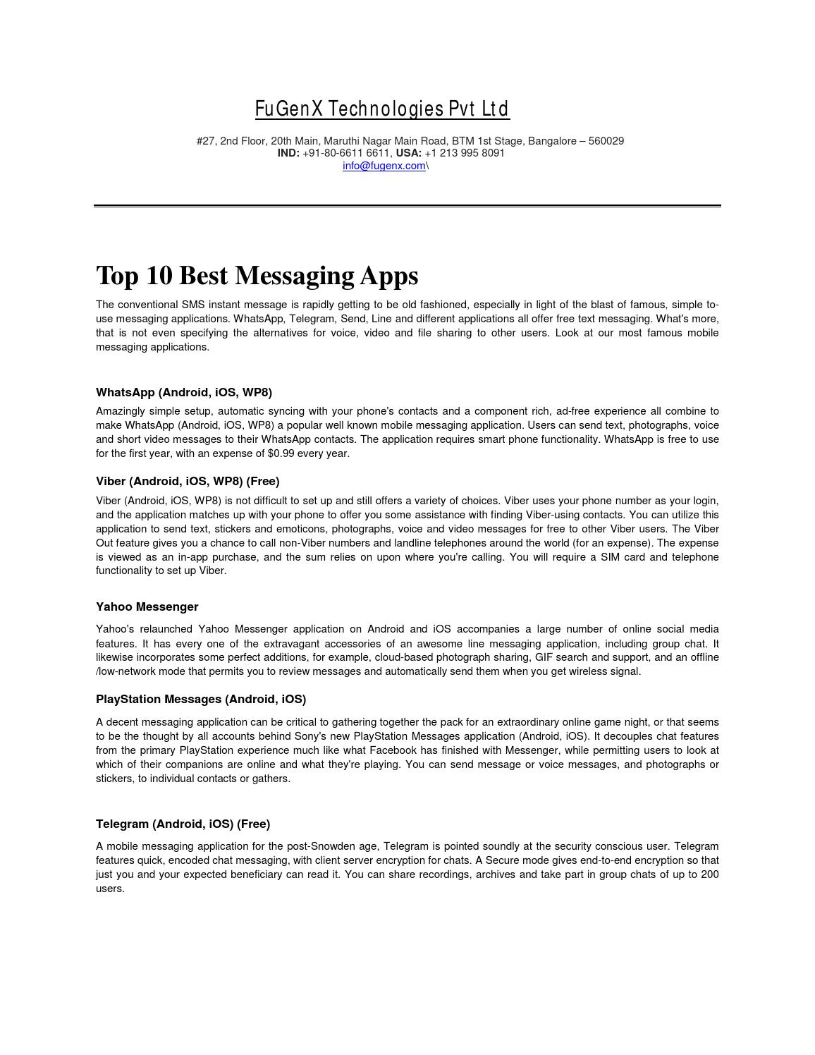 10 best msg apps by krishna modi - issuu
