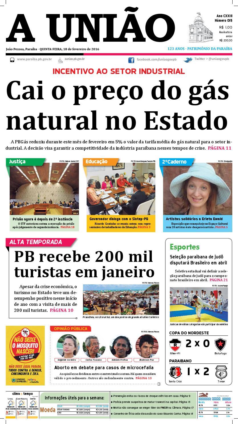 Jornal A União 18 02 16 by Jornal A União - issuu 04277a77d04d9