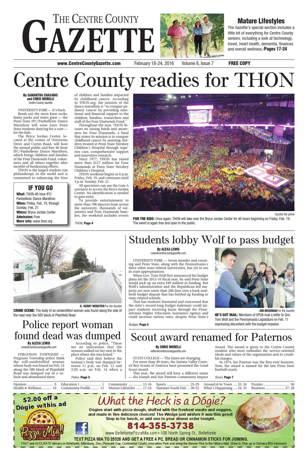 2 18 16 Centre County Gazette By Indiana Printing Publishing