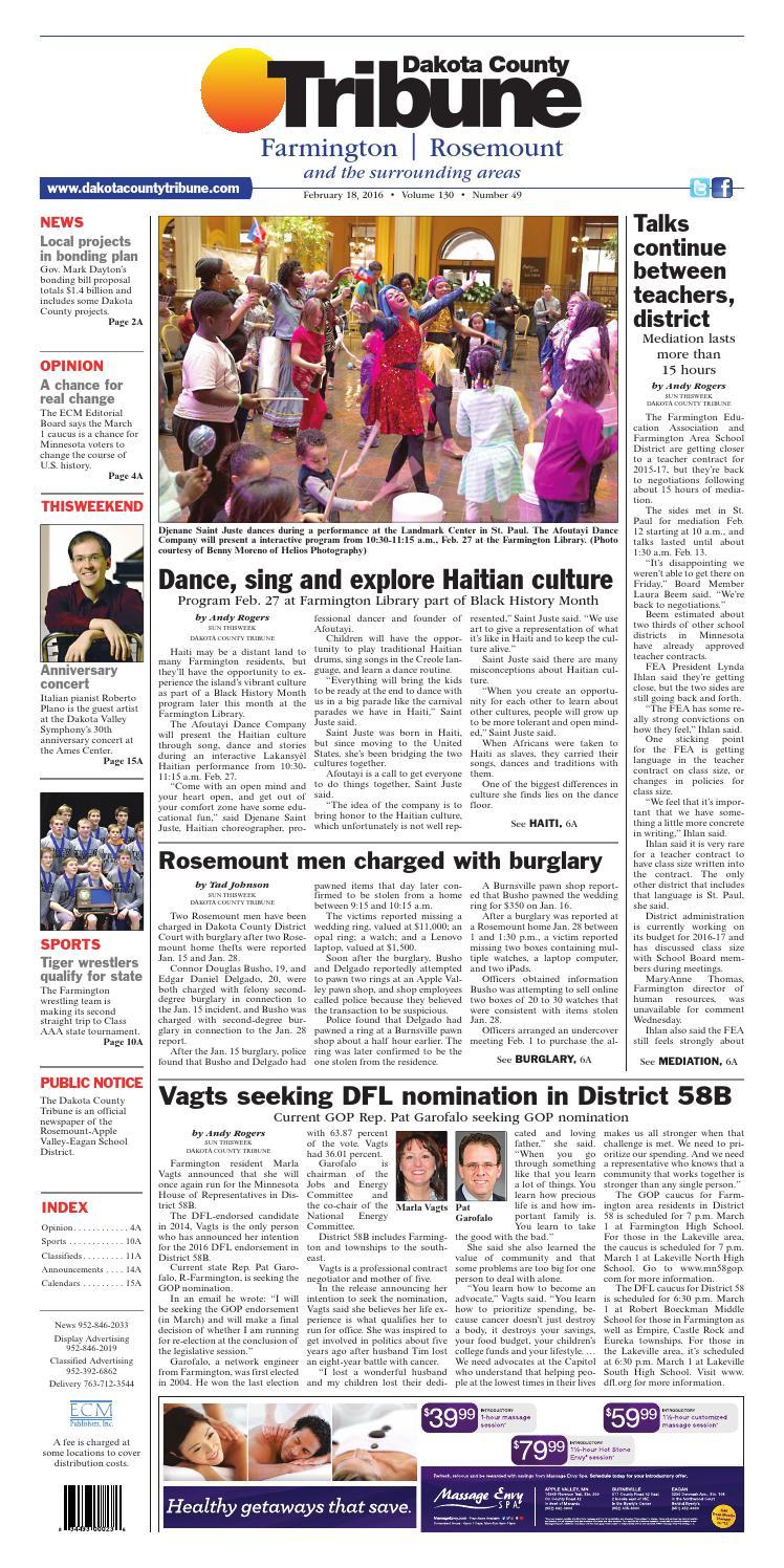 Dct2 18 16 by Dakota County Tribune - issuu