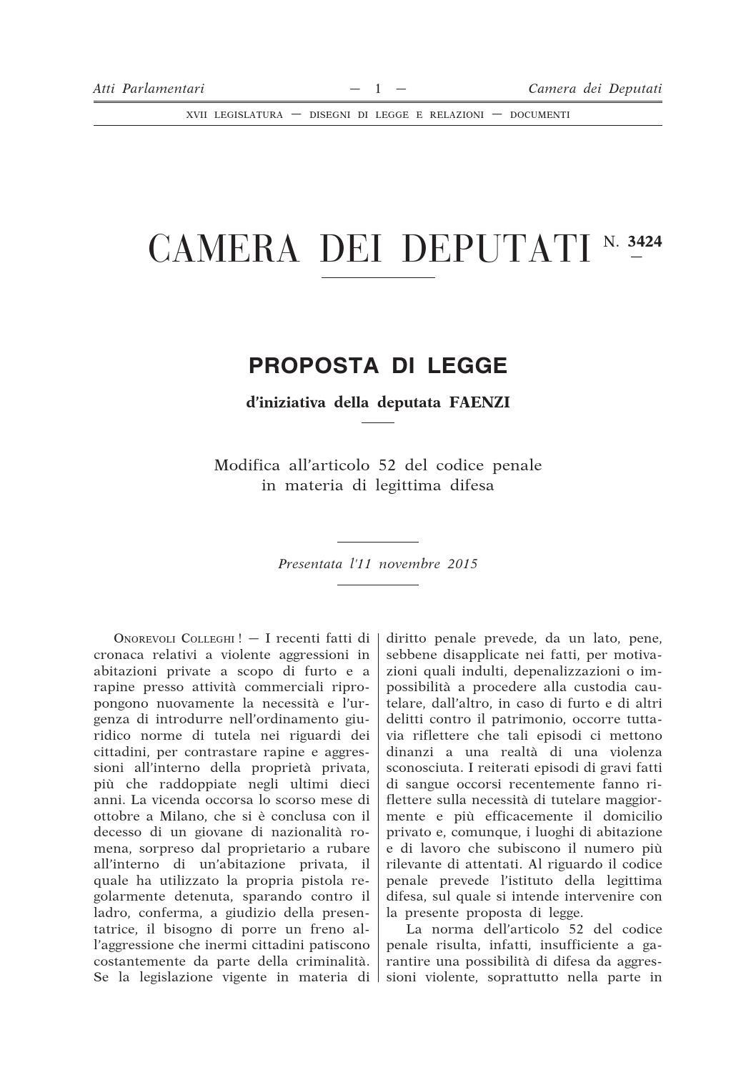 Atto camera 3424 by laboratorio polizia democratica issuu for Atti parlamentari camera