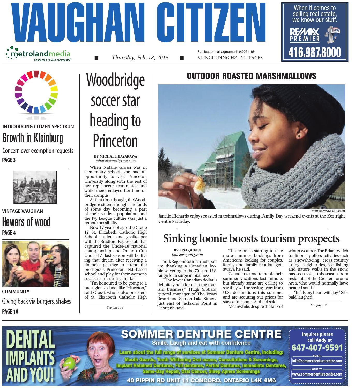 Vaughan Citizen, February 18, 2016 by Vaughan Citizen - issuu