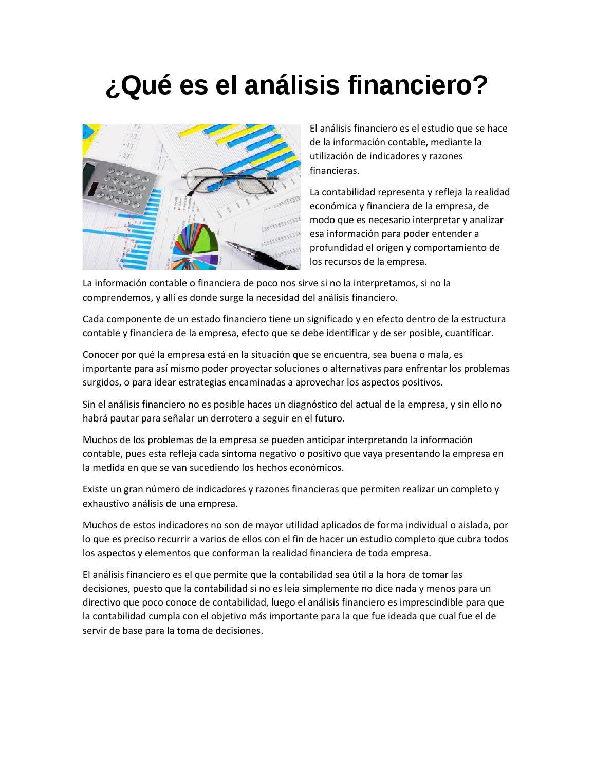 Qué Es El Análisis Financiero By Dalia Pulido Issuu