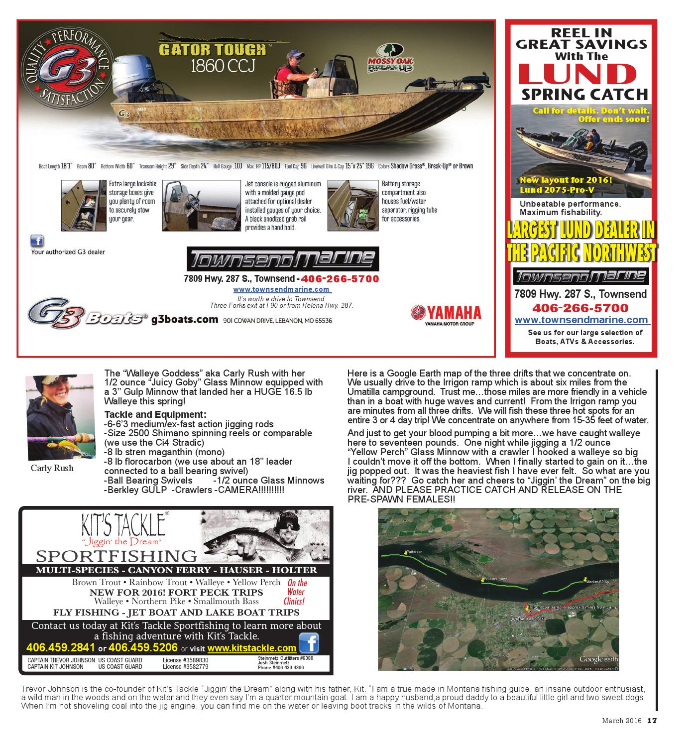 Montana Hunting & Fishing News - March 2016 by Amy Haggerty