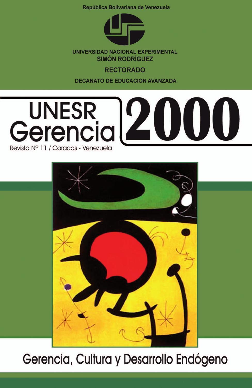 UNESR Gerencia 2000 [#11] by Ediciones del Decanato de Educación ...