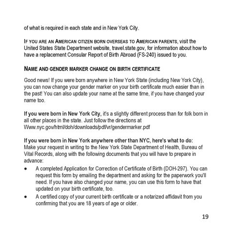 Know How The Trans Person S Guide For New York State By Out For