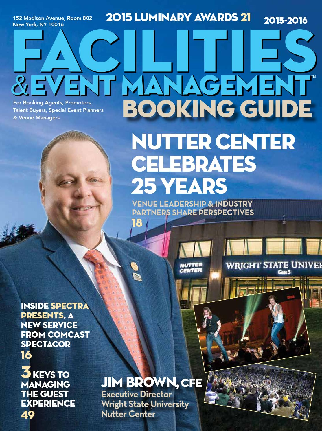 Facilities & Event Management 2015-2016 Booking Guide by Bedrock ...