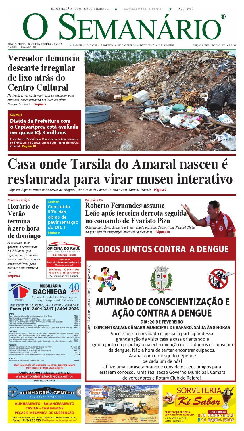 c09b3e0538 Jornal O Semanário Regional - Edição 1239 - 19 02 2016 by Jornal O  Semanário - issuu