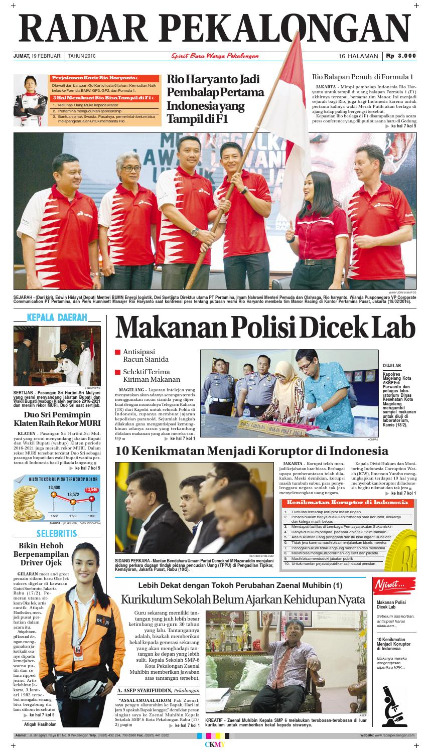 Radar Pekalongan 19 Februari 2016 By Issuu Produk Ukm Bumn Pusaka Coffee 15 Pcs Kopi Herbal Nusantara Free Ongkir Depok Ampamp Jakarta