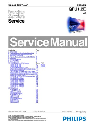 manual de serviço televisor philips modelo 40pfl8008s12 chassis qfu1