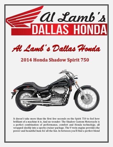 Al Lambs Dallas Honda 2014 Honda Shadow Spirit 750 By Darnell