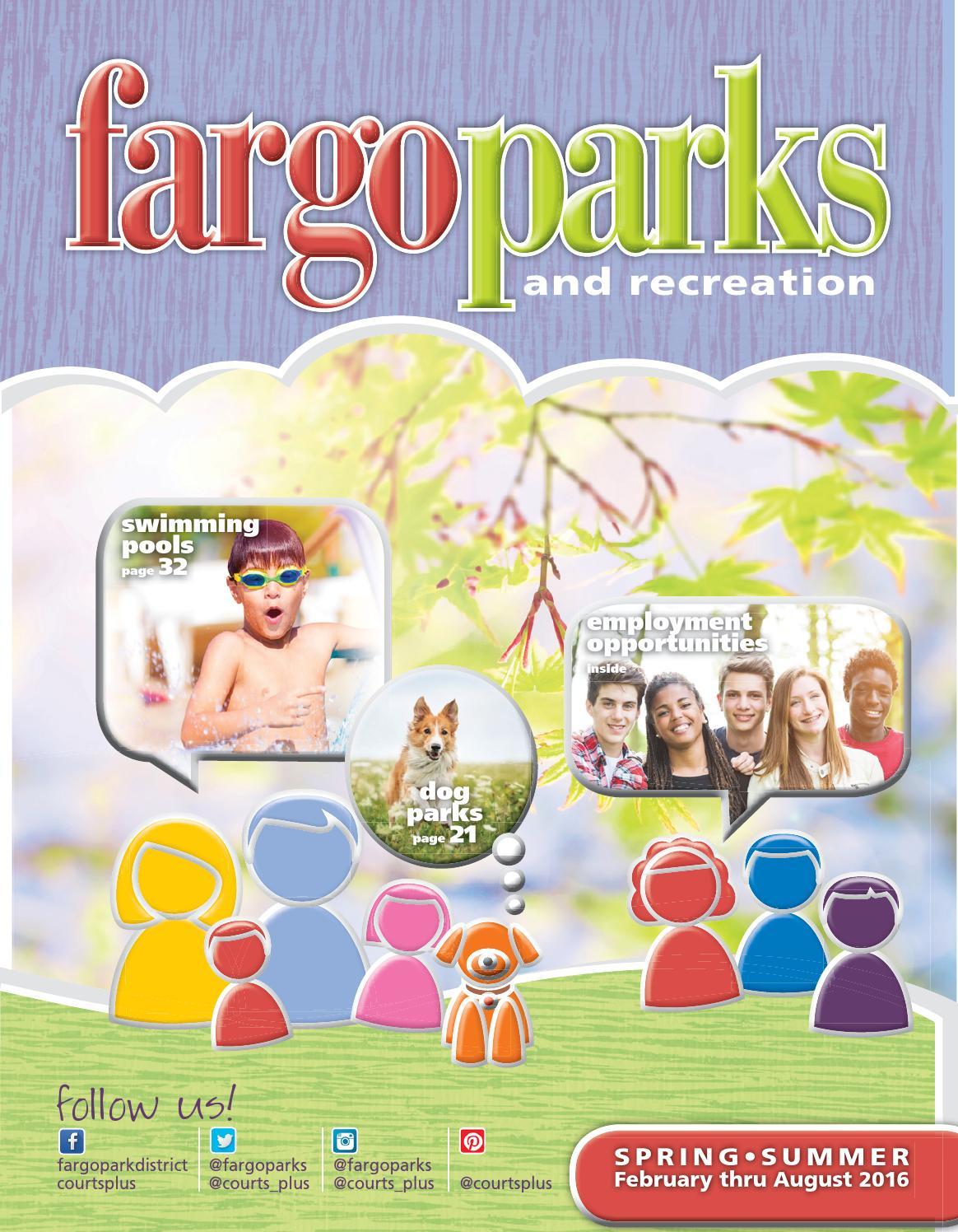 Fargo Parks Spring Summer 2016 By Fargoparks Issuu