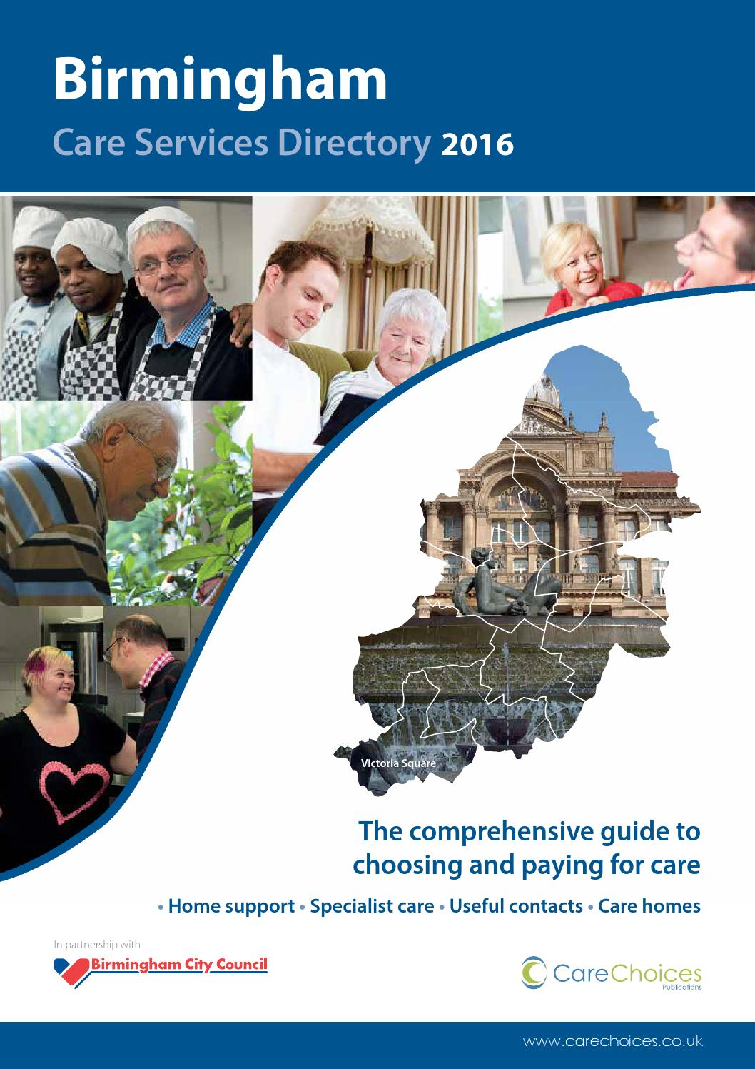 Birmingham Care Services Directory 2016 By Choices Ltd
