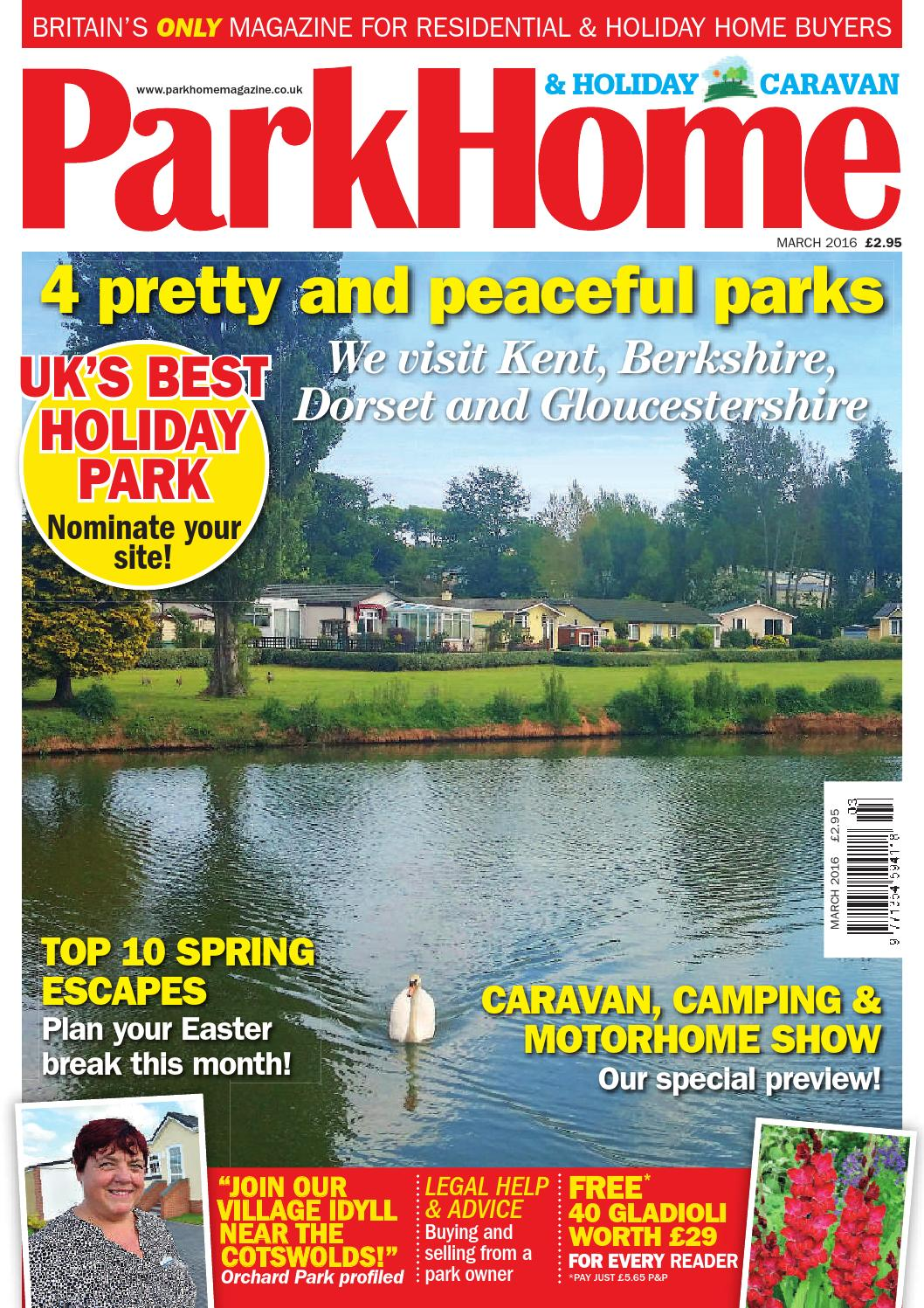Parkhomes And Holiday Caravan March 2016 By KELSEY Publishing Ltd
