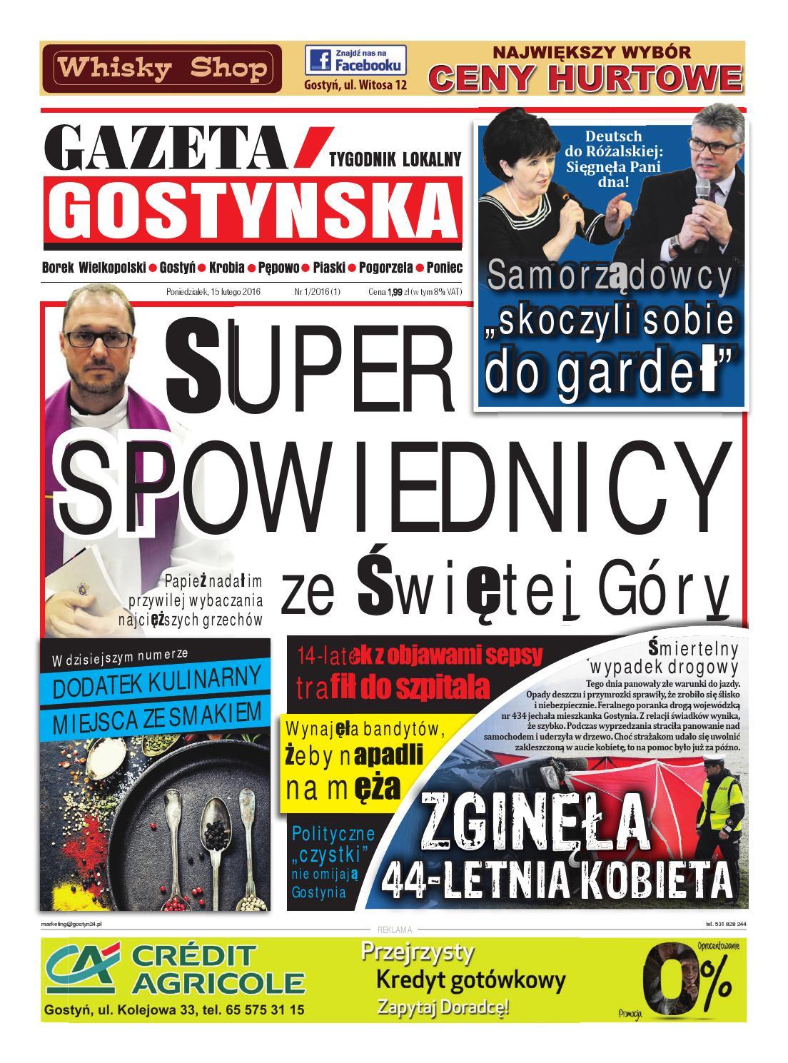 3abbce32 Gazeta Gostyńska 1/2016 by Przemysław Maciejewski - issuu