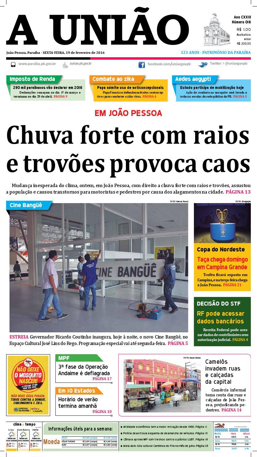 Jornal A União 19 02 16 by Jornal A União - issuu 33d4c9ee404