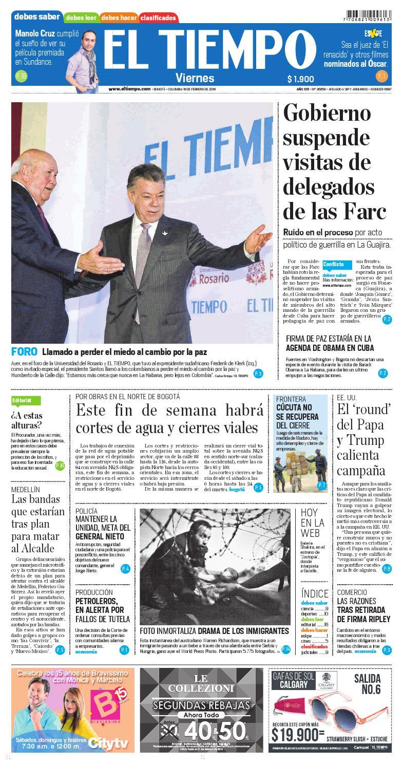 EL TIEMPO 19/02/2016 by Andres Alvarez - issuu