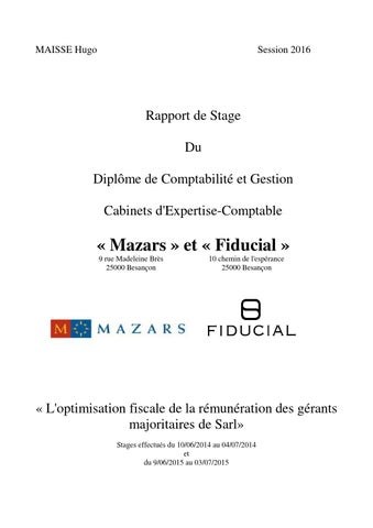Rapport de stage dcg 3 hugo maisse by hugomaisse issuu - Rapport de stage cabinet d avocat exemple ...