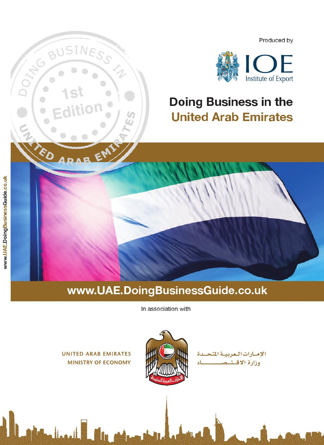 Doing Business in the UAE Guide by Doing Business Guides - issuu