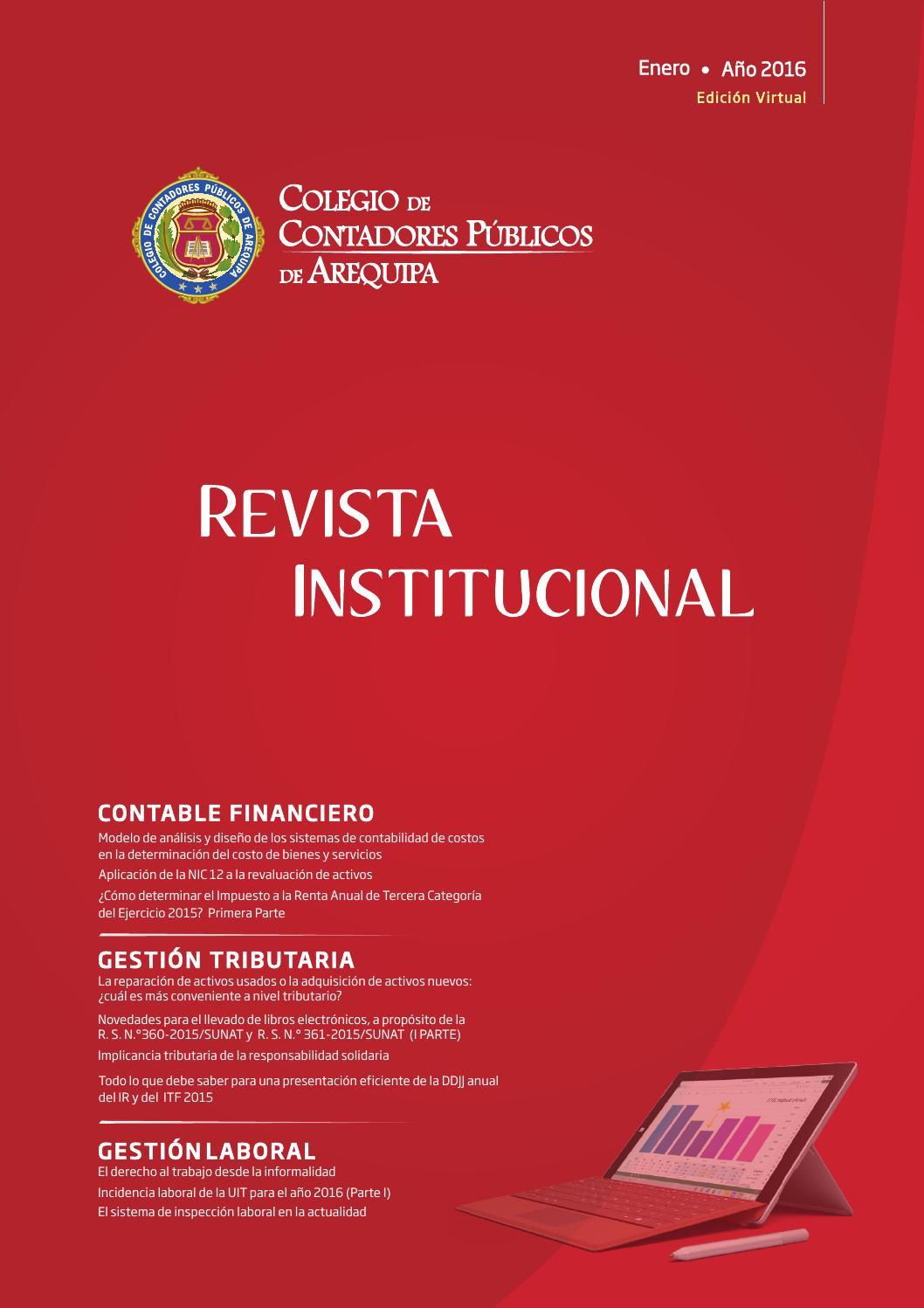 Revista Institucional - Enero 2016, edición virtual by Colegio de ...