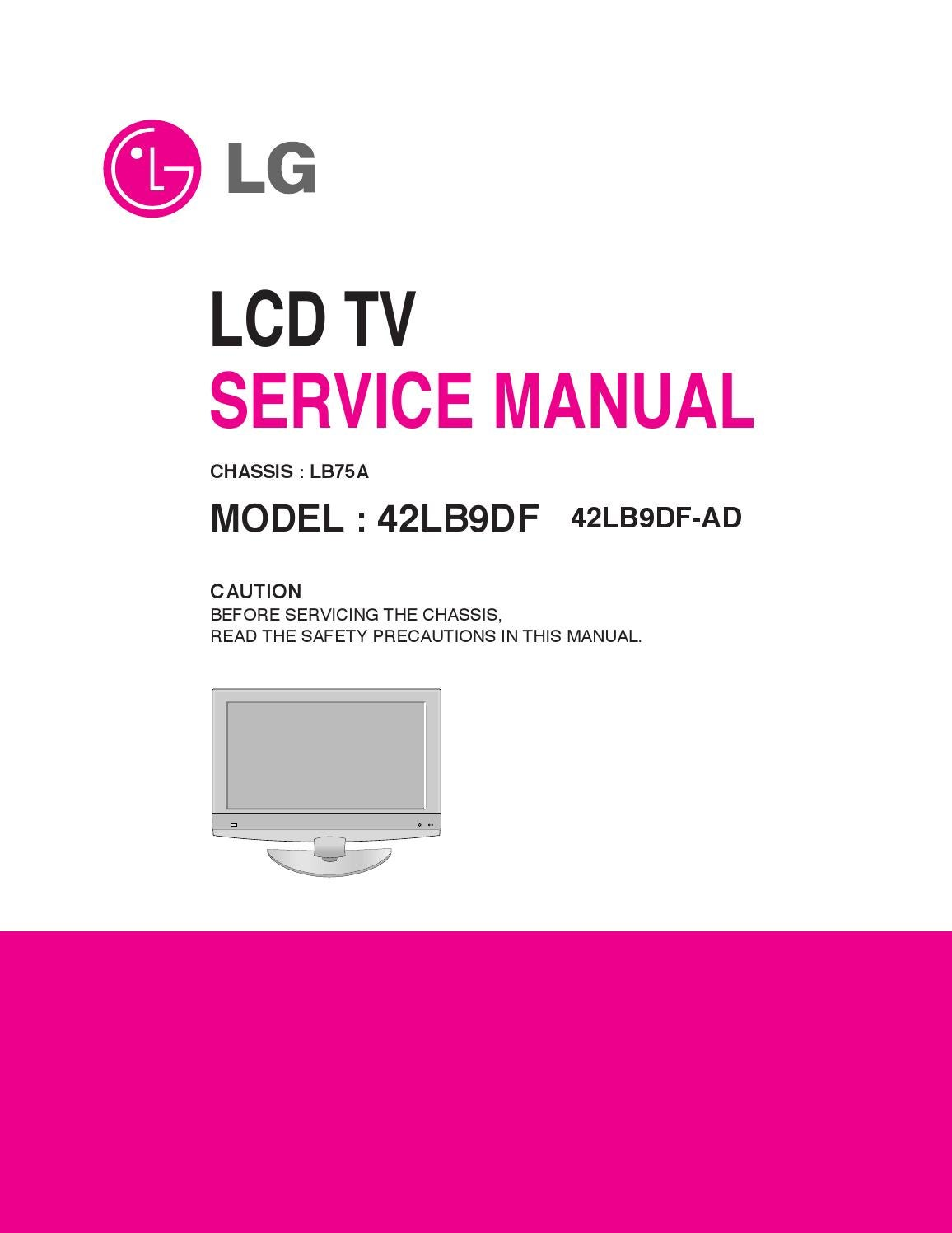 Manual De Servio Televisor Lg Modelo 42lb9df Ad Chassis Lb75a By Electro Help 32 Inch Philips Lcd Tv Power Supply Smps Schematic Portal Da Eletrnica Issuu