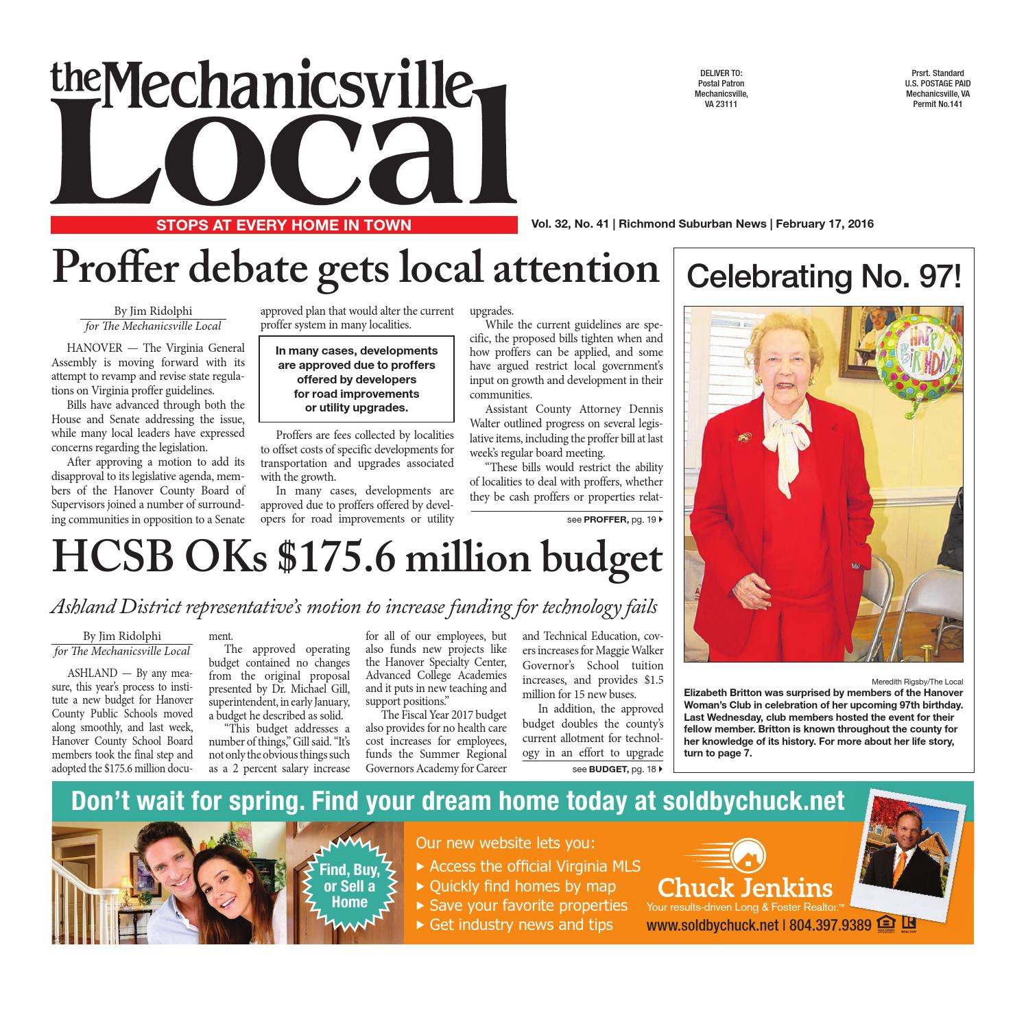 02/17/16 by The Mechanicsville Local - issuu