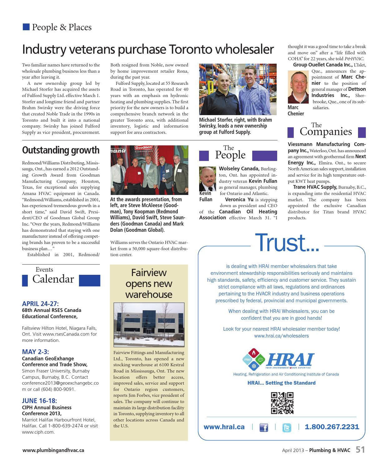 April 2013 By Plumbing And Hvac Issuu