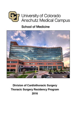 2016 Thoracic Surgery Residency brochure by Shelly Lange - issuu