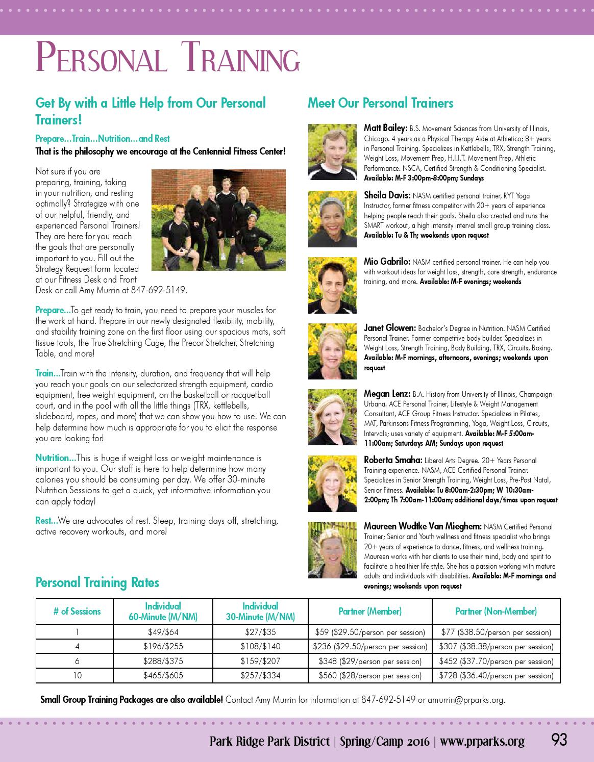 Spring Camp Brochure 2016 By Park Ridge Park District Issuu