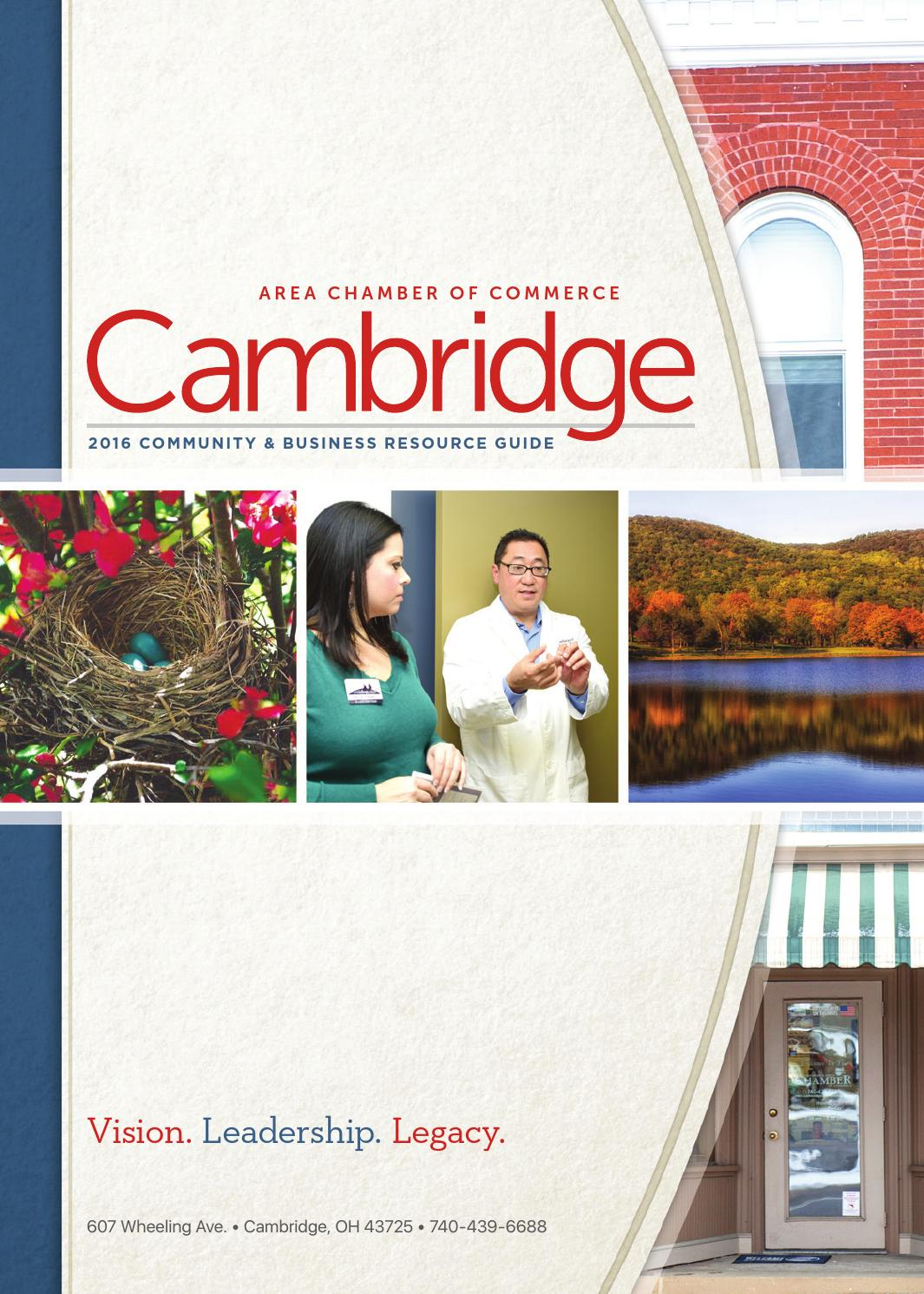 2016 Cambridge Area Chamber Of Commerce Business
