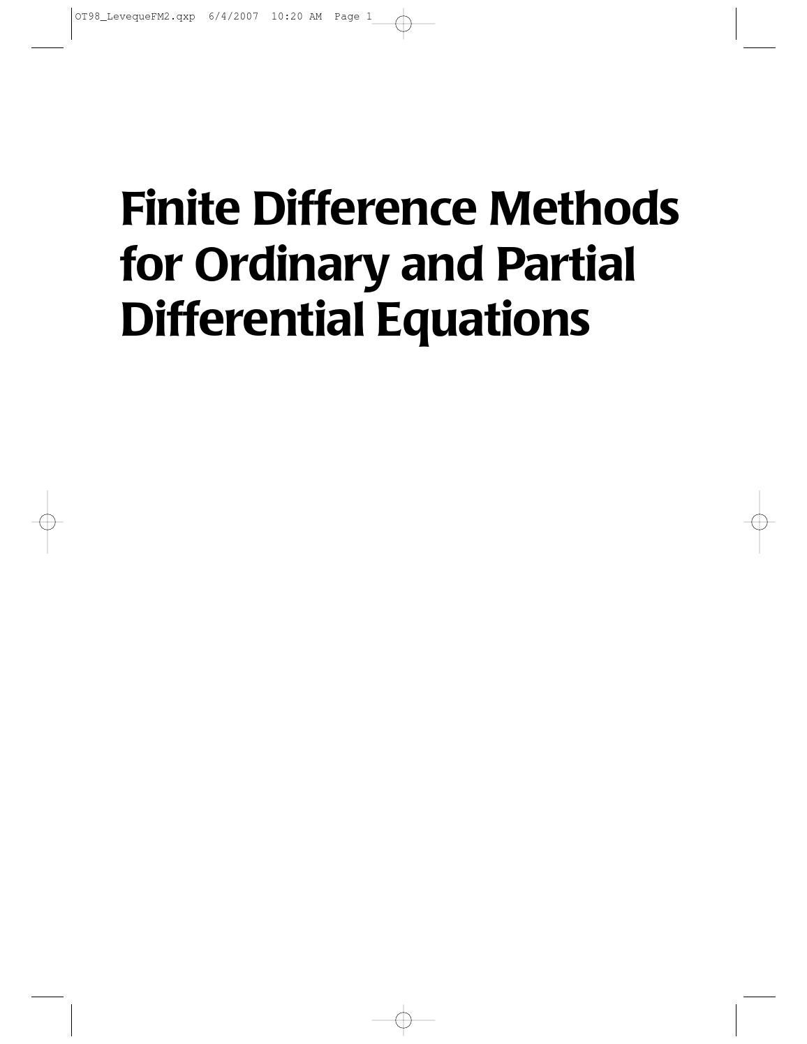 [randall leveque] finite difference methods for or(bookzz org) by Muhammad  Mairaj - issuu